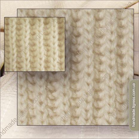 Вязание спицами.  Схема вязания английской резинки.