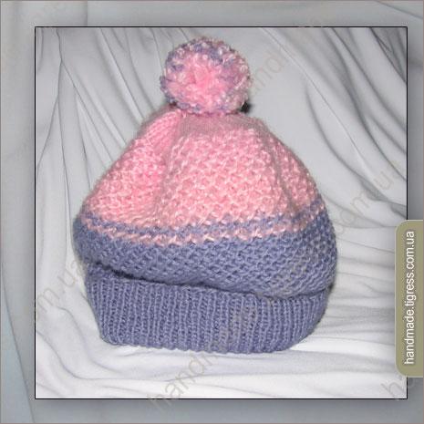 Вязание шапочки капор для новорожденной девочки.