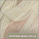 Длинный ажурный шарф из мохера