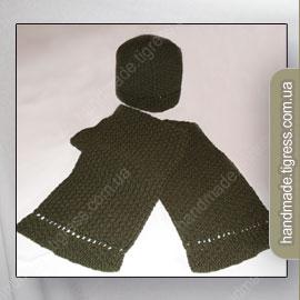Комплект: шапочка и шарф на весну