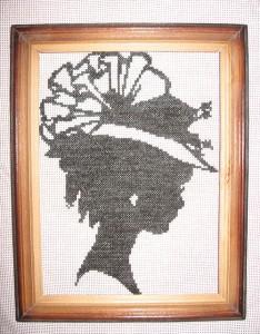 «Дама» Размер рамки 17х22